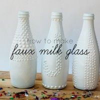 How to make faux milk glass : Tutorial