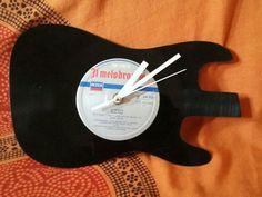 Guitar lp vinyl clock