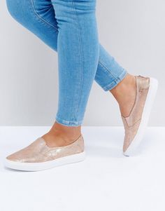 Head Over Heels by Dune Reptile Sneakers - Gold