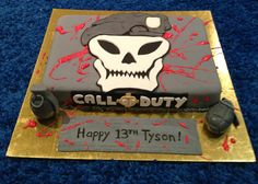 Call of duty cake Black Ops Cake, Call Of Duty Cakes, Novelty Cakes, Motorcycle Helmets, Creative Cakes, Cake Designs, Birthday Cakes, Cake Ideas, Parties