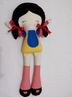 Boneca Isabella versão Branca de Neve. -