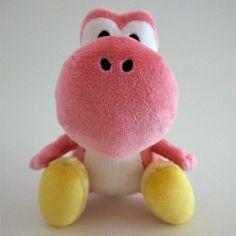 Peluche à l'effigie de Yoshi sous licence officielle NINTENDO Yoshi trop mignon en version rose ! Taille : 16 cm