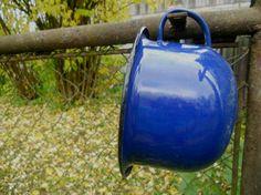 Soviet vintage potty Cobalt blue enamel chamber by TasteVintage, $16.00