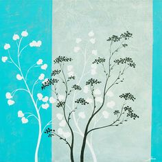 Blues Trees Wall Art by Surya