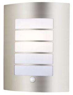 Facette Outdoor Cube Wall Light in Dark Grey, 5052931179053, B&Q ...:Blooma Tuscana Stainless Steel 40W Mains Powered External Pir Wall Light,Lighting