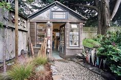 backyard ceramics studioLisa Neimeth is an accomplished potter whose studio just happens to be a renovated chicken coop. While we love our backyard chickens, it's good to see a structure originally designed for animals repurposed into such a cool space.