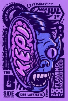 Gig posters, flyers and handbills from around the world! Graphic Design Illustration, Graphic Art, Illustration Art, Clash Club, Poster Design Inspiration, Typography Poster, Gig Poster, Cool Posters, Illustrations Posters