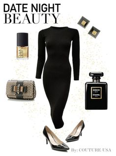 """""""Date Night Beauty"""" by coutureusa ❤ liked on Polyvore featuring Hermès, Cole Haan, Christian Louboutin, NARS Cosmetics, women's clothing, women's fashion, women, female, woman and misses"""