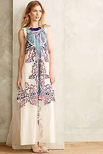 Anthropologie - Embroidered Glacia Gown
