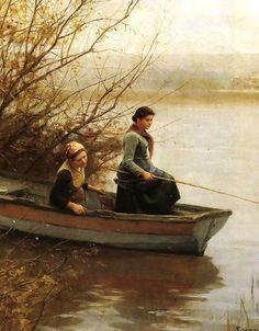 19th-century American Women: The Fishing Women of American Expatriate Genre Painter Daniel Ridgway Knight 1839-1924
