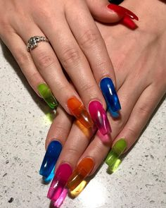 2784953519f 9 Best Neon blue nails images