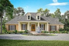 Elegant Acadian House Plan With Three or Four Beds - 51751HZ thumb - 01