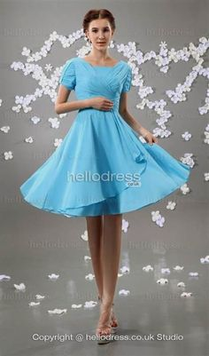 Cool pale blue bridesmaid dresses with sleeves 2017-2018