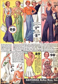 I often daydream about going back in time and shopping... whilst visiting the 30's I would most certainly pick myself up many of these pictured :