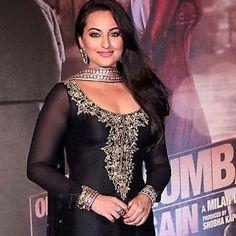 Bollywood Sonakshi Sinha Black Taffeta Churidar Suit  #fashion #bollywood #theme #party #dresses #onlineshopping #bestseller #womenstyle #onlineshops #wedding #dinnerparty #like4like #likeforfashion #malaysia #newarrival #black #sonakshi #designerdress #churidarsuits  http://www.andaazfashion.com.my/bollywood-dresses-online