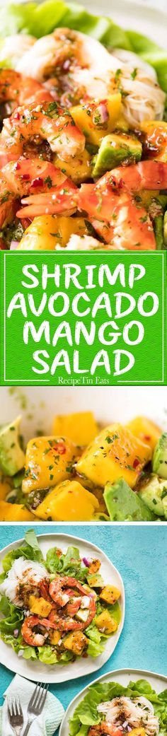 This Prawn Mango and Avocado Salad with Noodles is perfect for balmy summer days. Great no cook meal! www.recipetineats.com