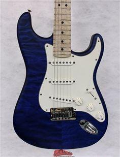 L.A. Music Custom Guitars Fender Custom Shop #109 2014 Custom Deluxe Strat® Maple Fretboard Cobalt Blue Trans 1509972862