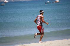 "#Chris #""Macca"" Mccormack  running on Gallows Bay  #Nevis West Indies  in the Tri Star #thriathlon in Nevis. Go Macca"