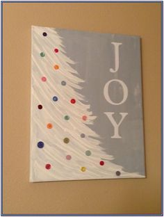 33 new Ideas for christmas art painting canvases projects Christmas Tree Canvas, Holiday Canvas, Christmas Paintings On Canvas, Christmas Tree Painting, Christmas Art, Christmas Signs, Canvas Paintings For Kids, Christmas Holidays, Christmas Decorations