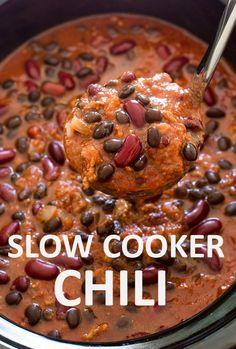 slow cooker crockpot chili