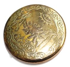 Rare Rebus Metal Button - Medium by KPHoppe on Etsy