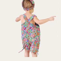 Baby Girls Floral Cotton Summer Playsuit Scarf Fair Trade Fashion