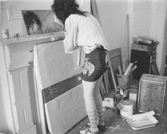 A photograph of Patti Smith by Robert Mapplethorpe.