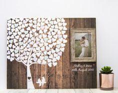 Idées de mariage arbre Guest Book  livre d'or mariage