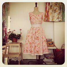 Vintage Sheet Dress by Naughty Shorts