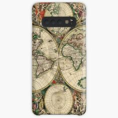 'vintage map of the world' Case/Skin for Samsung Galaxy by ModernFaces Galaxy Design, Map Design, Semi Transparent, Style Snaps, Sell Your Art, Protective Cases, Samsung Galaxy, Art Prints, Printed