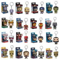 FUNKO POP Marvel Pocket Pop Keychain Official The Avengers Super Hero Characters Action Figure Collectible Model Christmas Toys Marvel Avengers, Minion Avengers, Funko Pop Marvel, Pop Minion, Deadpool, Avengers Costumes, Funko Pop Toys, Die Rächer, Weird