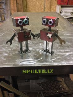 Robots need love too! ENTER THE SHOP Spulvraz.etsy.com #iron #toy #vintage #tin #robot #inspired #red #reuse #ruined #house #handmade #design #etsy #Bologna #madeinitaly #logo