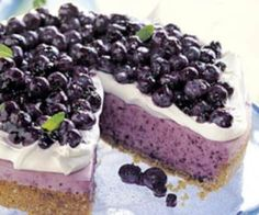 Blueberry Cheesecake. Summer Fruit  Drinks.