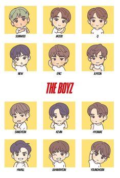 Kpop Fanart, Kpop Diy, Cute Korean Boys, Kpop Drawings, Cute Chibi, Art Studies, Boy Groups, My Arts, Kawaii