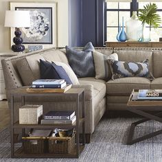 Rustic Sectional sofas with Chaise . Rustic Sectional sofas with Chaise . Oxford Pop Up Platform Sleeper sofa with Storage Chaise U Shaped Sectional Sofa, Sectional Sofa With Chaise, L Shaped Couch, Living Room Sectional, My Living Room, Living Room Chairs, Living Room Furniture, Houses, Dining Room
