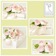 Pudełko z pełnikami jako opakowanie gotówki, wręczanej z okazji ślubu:)Mam nadzieję, że wyjdzie bardzo ładnie i Panna Młoda a zarazem świeżo upieczona żona będzie cieszyć się nim przez lata:)