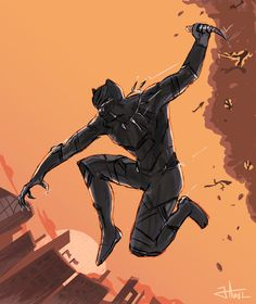 """wakandas: """" Panther - *skritch scratch* """""""