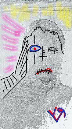 """Self Portrait (Electric Fertilizer)"" by Richard F. Yates"