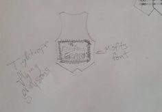 Back of Rococo Robin Vest designed by Samm