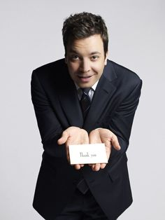 Jimmy Fallon thank you notes...I tape his Friday night show just to see this segment. Jimmy puts a whole new spin on gratitude!