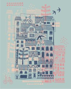 "illustrated by ""rosie harbottle"" seen on vlinspiratie.blog... #illustration"