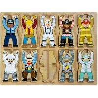 Melissa & Doug Stacking Chunky Puzzles: Occupations $37.90 www.mamadoo.com.au #mamadoo #woodentoys