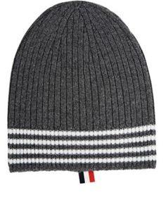 Ribbed Cashmere Hat - Grey Thom Browne b2A1FYEkAb