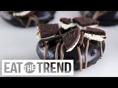 How to Make Oreo Doughnuts   Eat The Trend - YouTube ( have to make!)