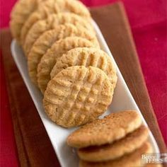 The simple combination of savory but sweet peanut butter incorporated into a smooth, buttery dough gives this cookie its signature nutty flavor.