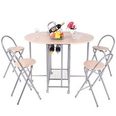 Table Dining Set Chairs Kitchen Furniture Modern 5 Piece Wood and