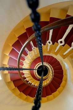 Ian Cowe Spiral staircase, Kinnaird Head Lighthouse, Fraserburgh Kinnaird Head was the first lighthouse to be built by the Northern Lighthouse Board in 1787 on top of an existing castle. In the Robert Stevenson rebuilt the lighthouse tower, his. Grand Staircase, Staircase Design, Architecture Unique, Interior Architecture, Balustrades, Beautiful Stairs, Take The Stairs, Stair Steps, Stairway To Heaven