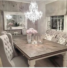 Love the idea of doing some type of wooden ship lap accent wall in the dining room and master too!!