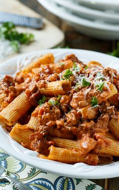 Italian Sausage Rigatoni with Spicy Cream Sauce