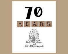70th Birthday Card The Big 70 Age Milestone 1949 Funny